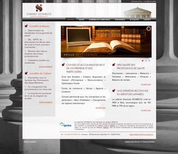 Développement site internet à Nice pour le Cabinet SCHMELTZ