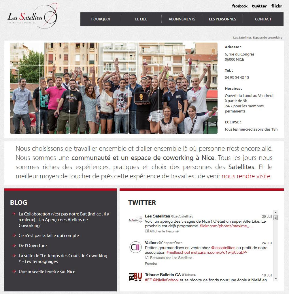 Développement site internet à Nice pour Les Satellites