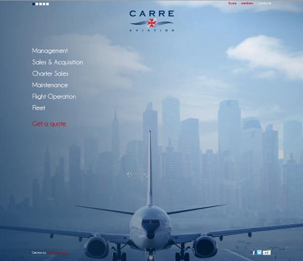 Création site internet à Malte pour CARRE Aviation