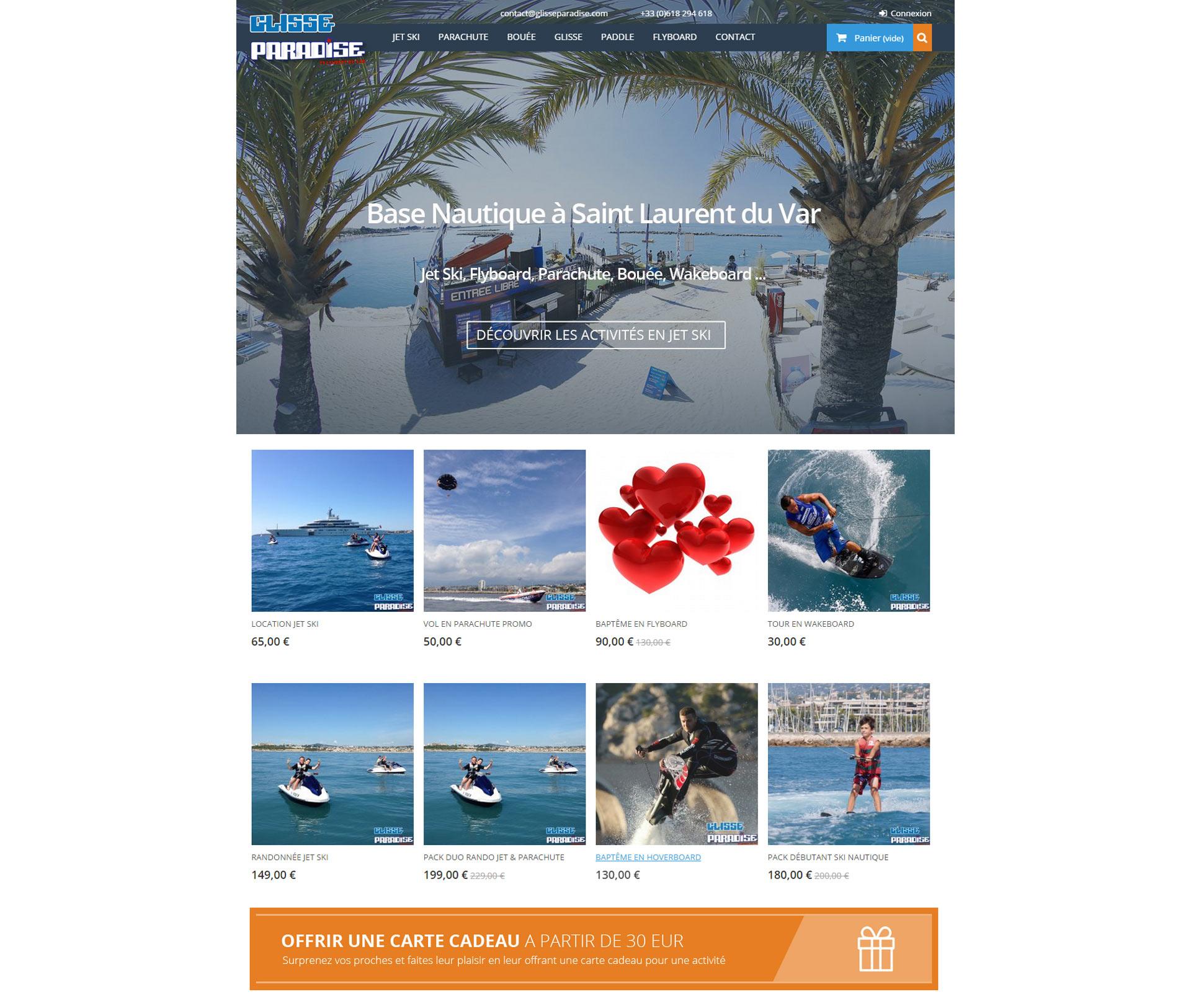 Ecommerce Prestashop Base Nautique à Nice