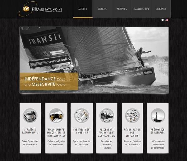 Création site internet à Sophia-Antipolis pour Hermes Patrimoine