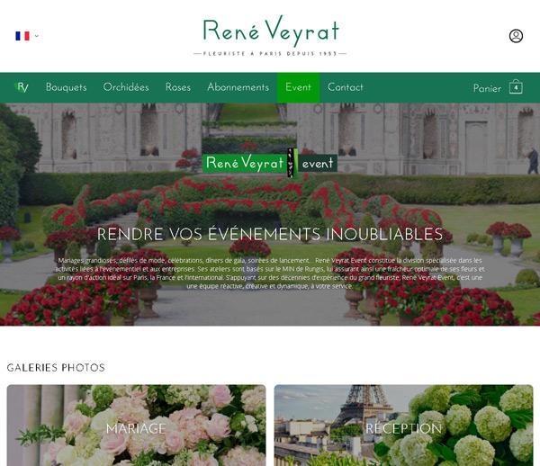 René Veyrat, Fleuriste à Paris