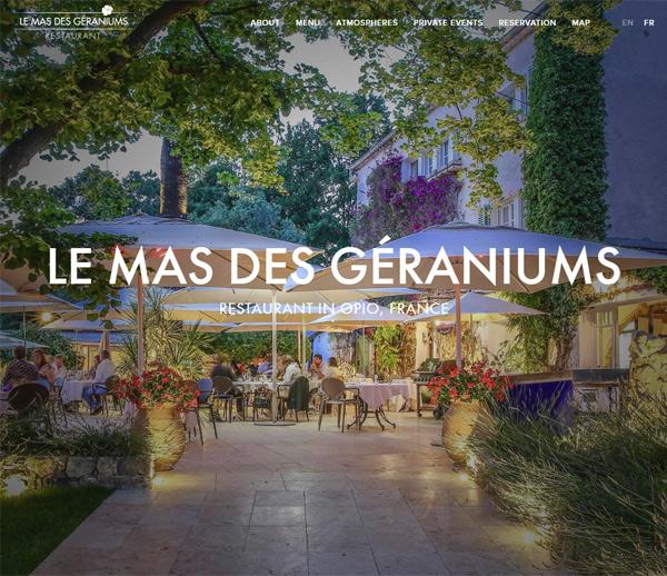 Resurant Le Mas des Géraniums à Opio